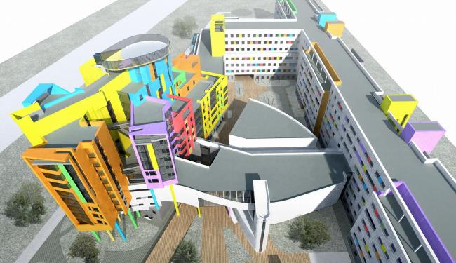 ФНКЦ «Центр детской гематологии, онкологии и иммунологии» © Архитектурное бюро Асадова