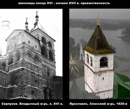 Значение кремлевских построек первых Романовых в истории происхождения шатровых колоколен XVII века