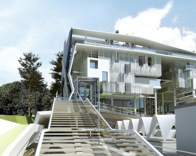 Рекреационный комплекс в Сочи. Проект, 2007 © Гинзбург Аркитектс