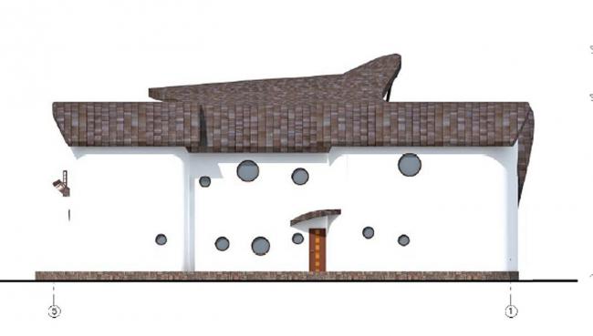 Дом-раковина в Мытищах. 2008 г.