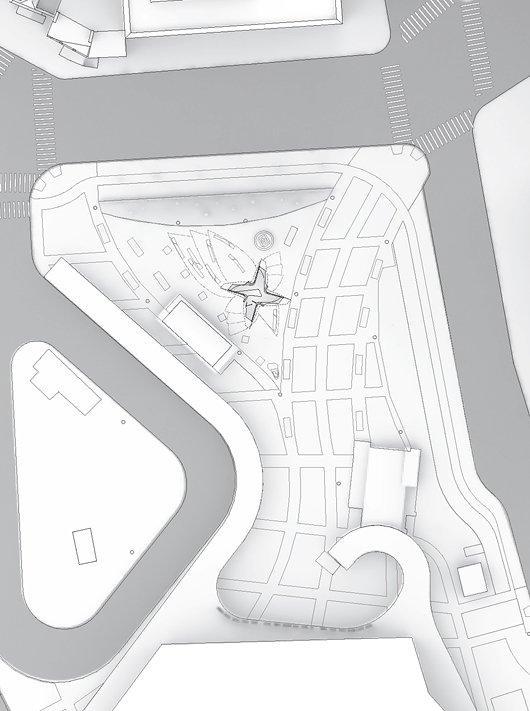 Площадь и Павильон Новый Амстердам. Ситуационный план
