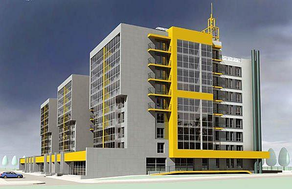 Жилые блок-секции в 32-м микрорайоне г. Ангарска. Архитектурная мастерская «ГАБР»