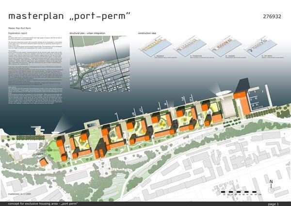 Порт Пермь - генплан застройки южного берега Камы