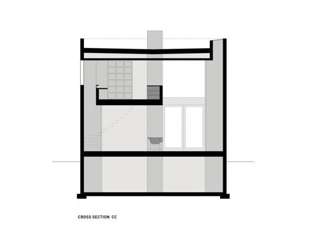 Вилла Цай. Разрез по поперечной оси © HHF Architects