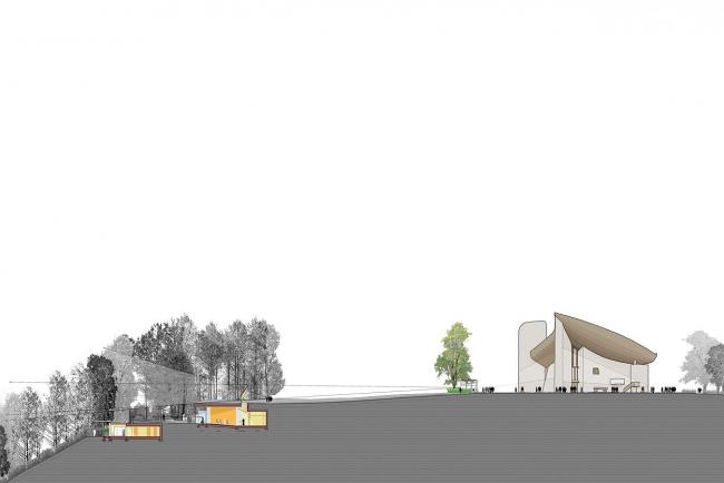 Монастырь ордена кларисс. Проект февраль 2009 © RPBW