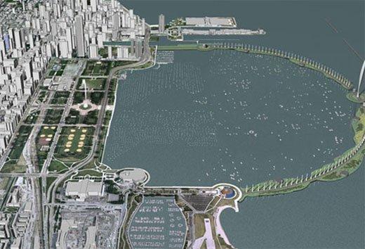 Эдриан Смит. Проект эко-моста для Чикаго