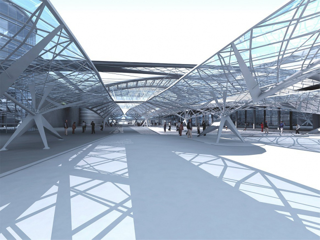 Терминал D «Шереметьево-2». Проект © Архитектурная мастерская «Дмитрий Пшеничников и партнеры»