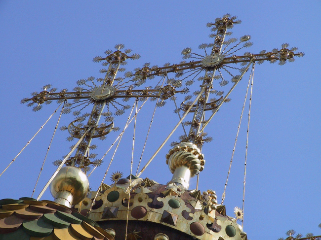 Церковь Рождества (Строгановская) в Нижнем Новгороде. Главы с крестами. Фотография Юлии Тарабариной