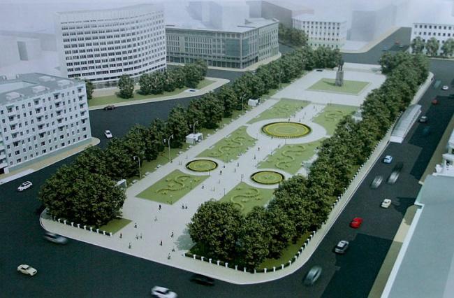 Предложение «СС-проекта»: площадь Горького выглядит по-прежнему, лишь парковки спрятались под землей