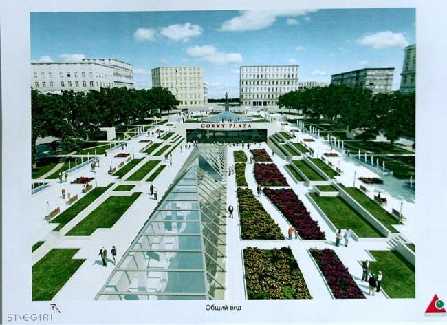 Площадь Горького - проект компании «Снегири» Александра Чигиринского