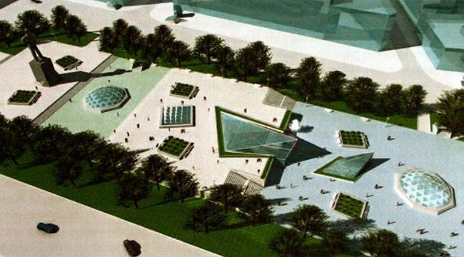 Площадь Горького. Проект московской комании «Модная площадь» (вид сверху)
