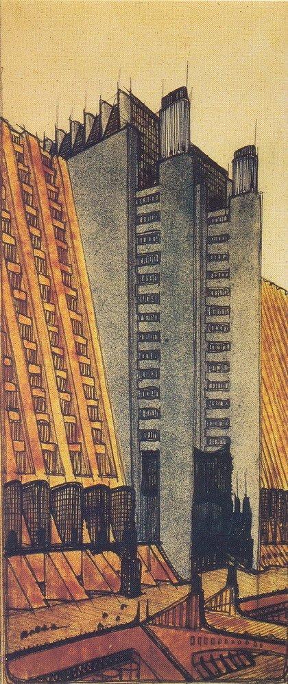 Антонио Сант'Элиа. Из серии «Citta' nuova» («Новый город»)