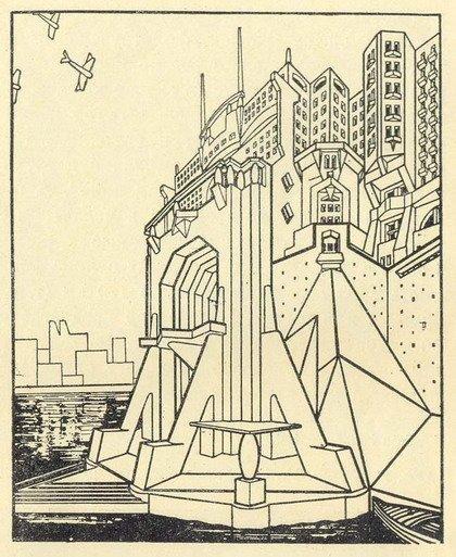 Вирджилио Марки. Архитектурная фантазия. 1920-е гг.