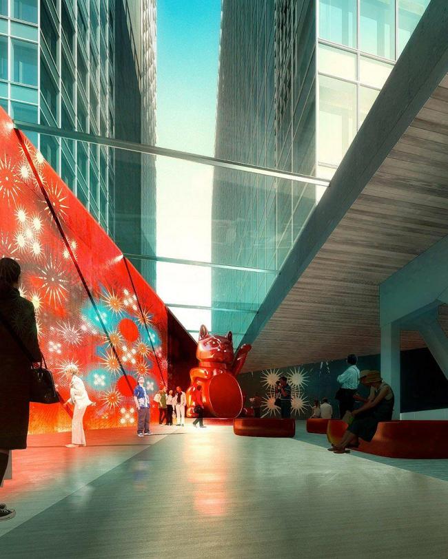 Музеум Плаза. Художественная галерея с застекленными перекрытиями