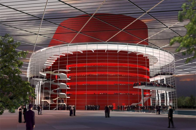 Оперный театр Уинспир. Первый вариант проекта