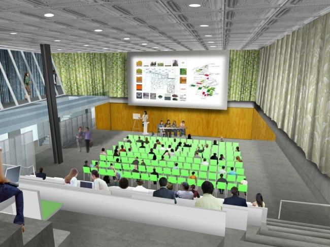 Корпус Мильстейна Университета Корнелла. Аудитория в закрытом состоянии © ОМА