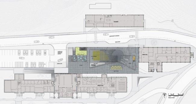 Корпус Мильстейна Университета Корнелла. План 1-го этажа © ОМА