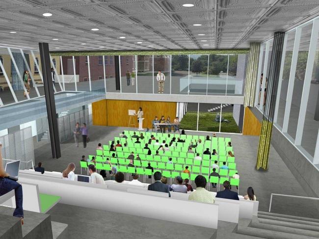 Корпус Мильстейна Университета Корнелла. Аудитория в открытом состоянии © ОМА