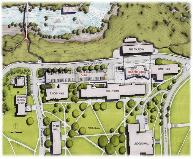 Корпус Мильстейна Университета Корнелла. Ситуационный план © ОМА