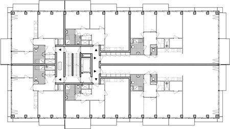 Жилой комплекс Westerdok. План 6-го этажа © MVRDV