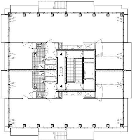 Жилой комплекс Westerdok. План 10-го этажа © MVRDV