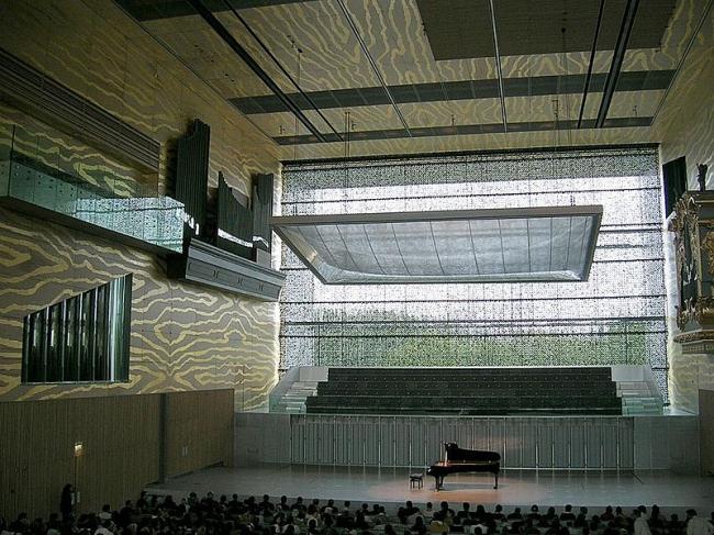«Дом музыки» в Порто. Интерьер. Фото: Janekpfeifer via Wikimedia Commons. Лицензия CC BY-SA 3.0