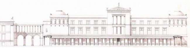 Новый музей. Восточный фасад. Проект Ф. Штюлера