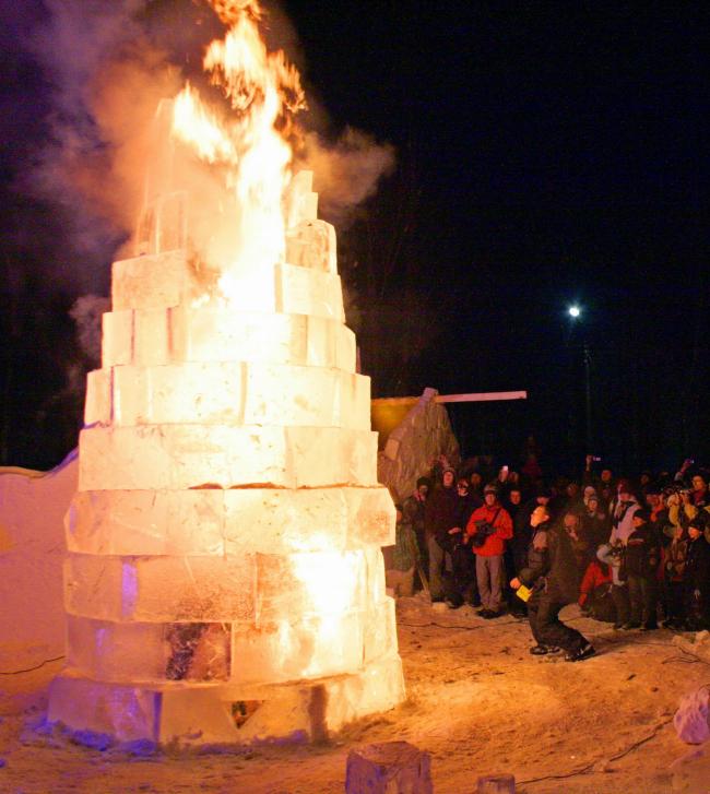 Горящая ледяная башня (мастерская К Баира)