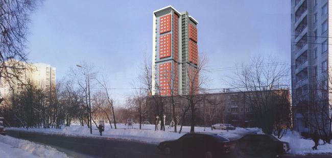 Жилой комплекс с подземной автостоянкой на улице Сельскохозяйственной. Эскиз © Алексей Бавыкин и партнёры
