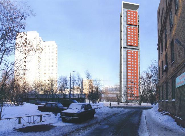 Жилой комплекс с подземной автостоянкой на улице Сельскохозяйственной. Встройка трехмерной модели. Проект © Алексей Бавыкин и партнёры