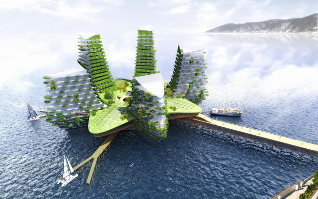 «Острова». Концептуальные предложения по освоению акватории г. Сочи © Архитектурное бюро Асадова