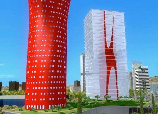Башни Порта Фира. Проект