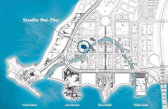 Генплан «квартала культуры» острова Саадийат