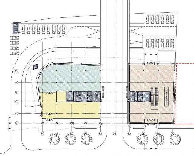 Схема благоустройства территории и план 1-го этажа