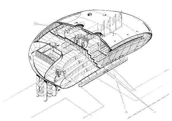 Пресс-центр стадиона Лордс. Аксонометрия © Future Systems