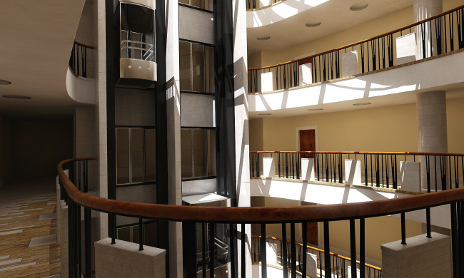 атриум типового этажа