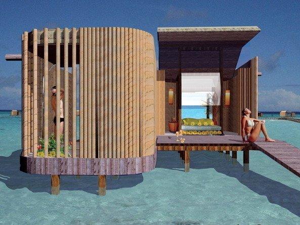 Курортный комплекс на Мальдивских островах - Фунамадуа