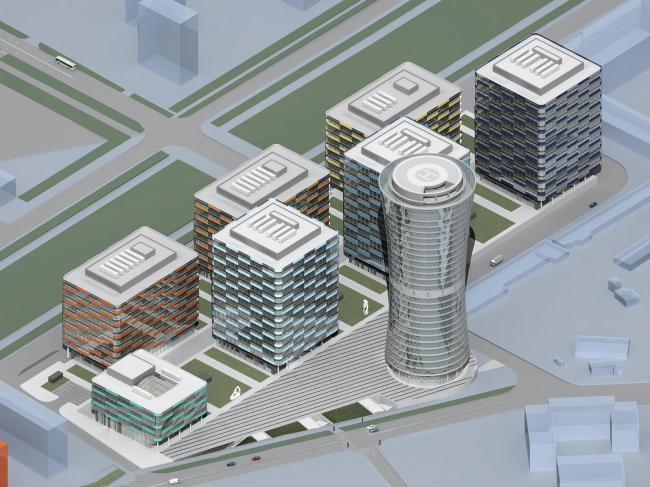 Деловой центр «Кронштадтский». Первый вариант (2007-2008)