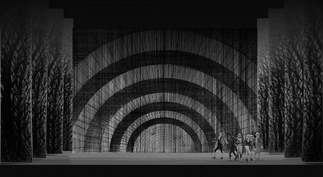 Тюрьма. Фотография с макета