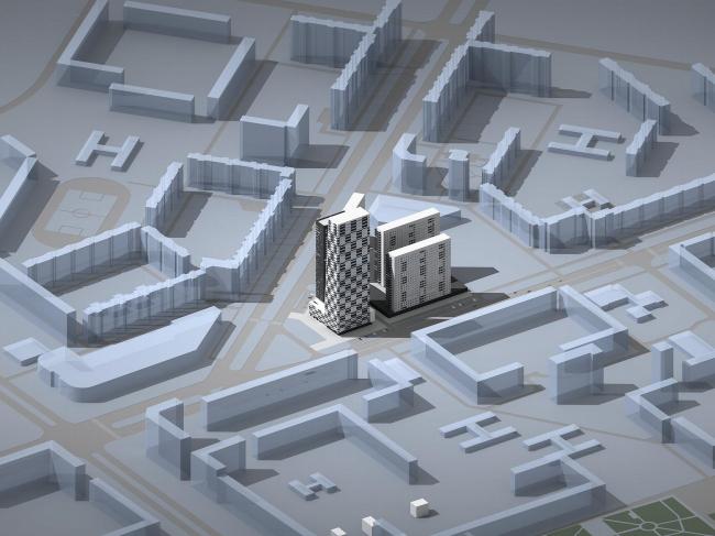 Многофункциональный комплекс на площади Хошимина в Санкт-Петербурге