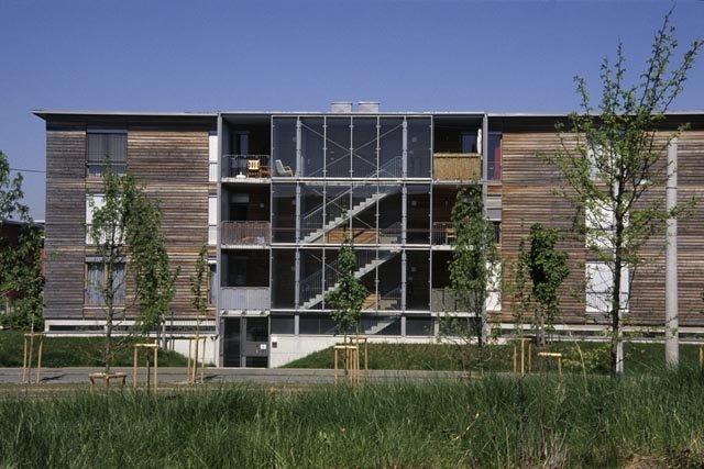 Томас Херцог. Комплекс на 400 квартир Solar-City в Линце. 1994-2005 © Verena Herzog-Loibl