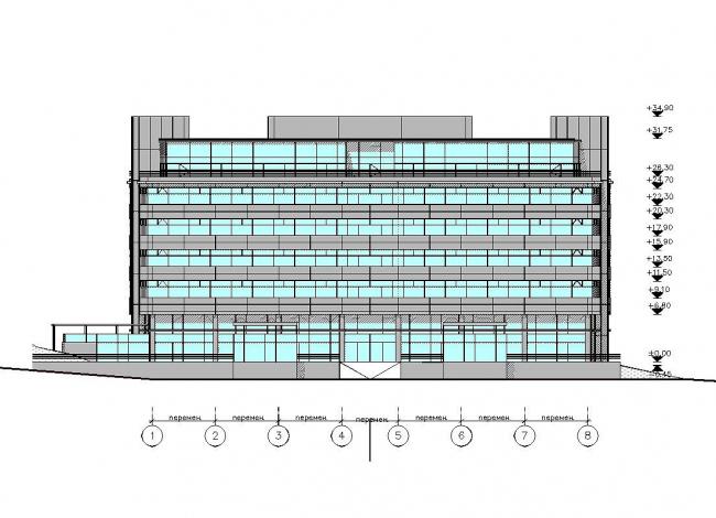 фасад в осях 1-8