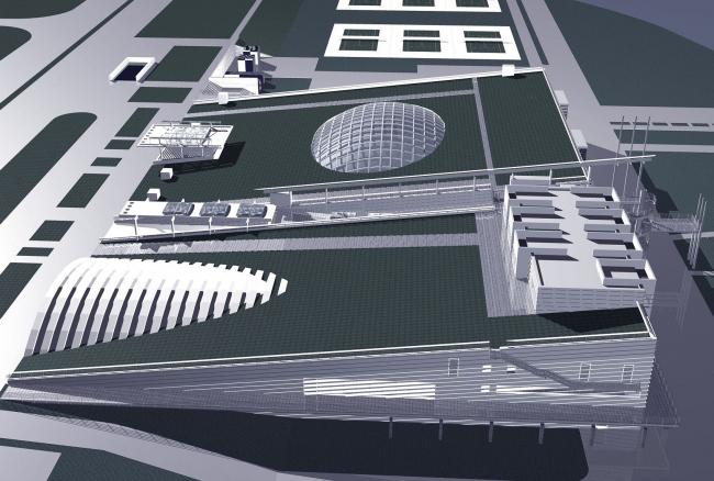 Спортивный комплекс теннисного центра на Ленинградском шоссе © ТПО «Резерв»