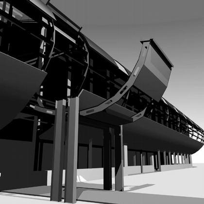 Реконструкция аэровокзала Толмачево, Арх. А. Южаков, Д. Бойков (1997)
