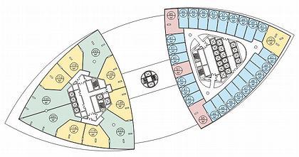 Башня «Федерация» (Москва-Сити). План 46-го этажа