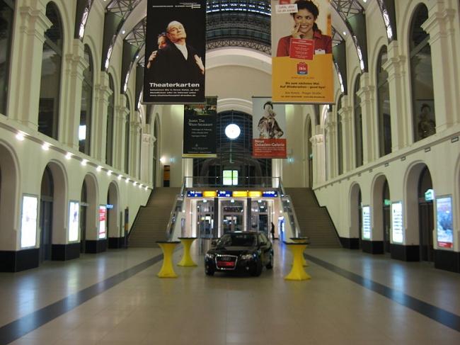 Центральный вокзал Дрездена -- реконструкция. Фото: ABlockedUser via Wikimedia Commons. Лицензия GNU Free Documentation License, Version 1.2