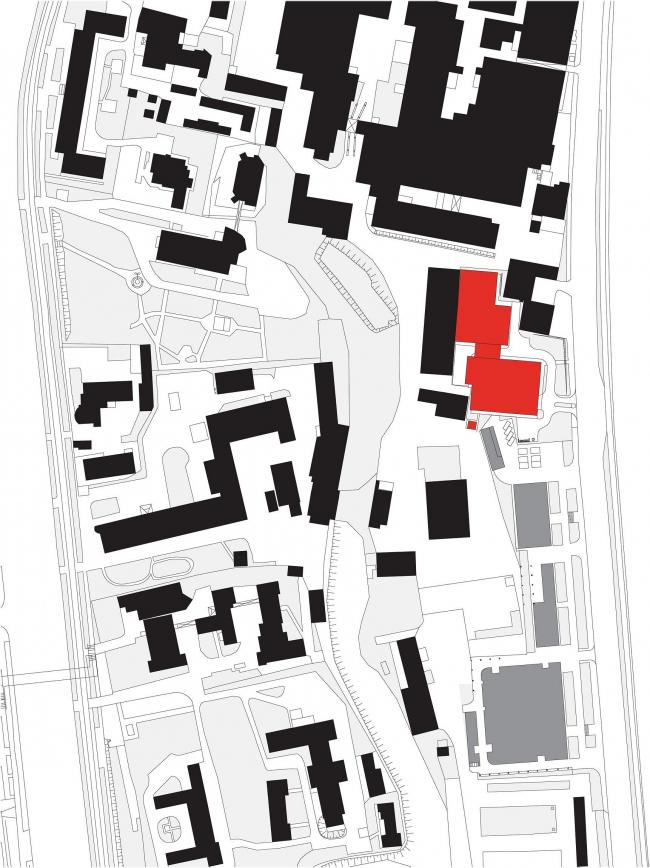 """Danilov Plaza"" multifunctional project. Location plan © SPEECH"