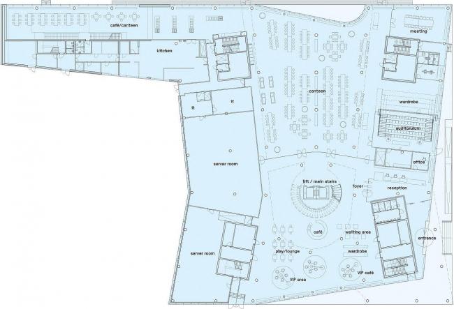 Штаб-квартира Saxo Bank. План 1-го этажа