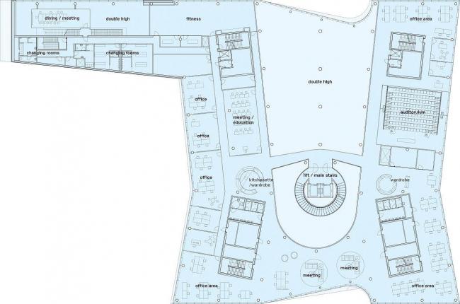 Штаб-квартира Saxo Bank. План 2-го этажа