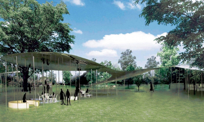 Летний Павильон Галереи Серпентайн 2009. Проект (c) SANAA